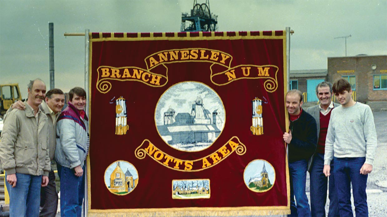 Annesley Colliery Mining Union Banner