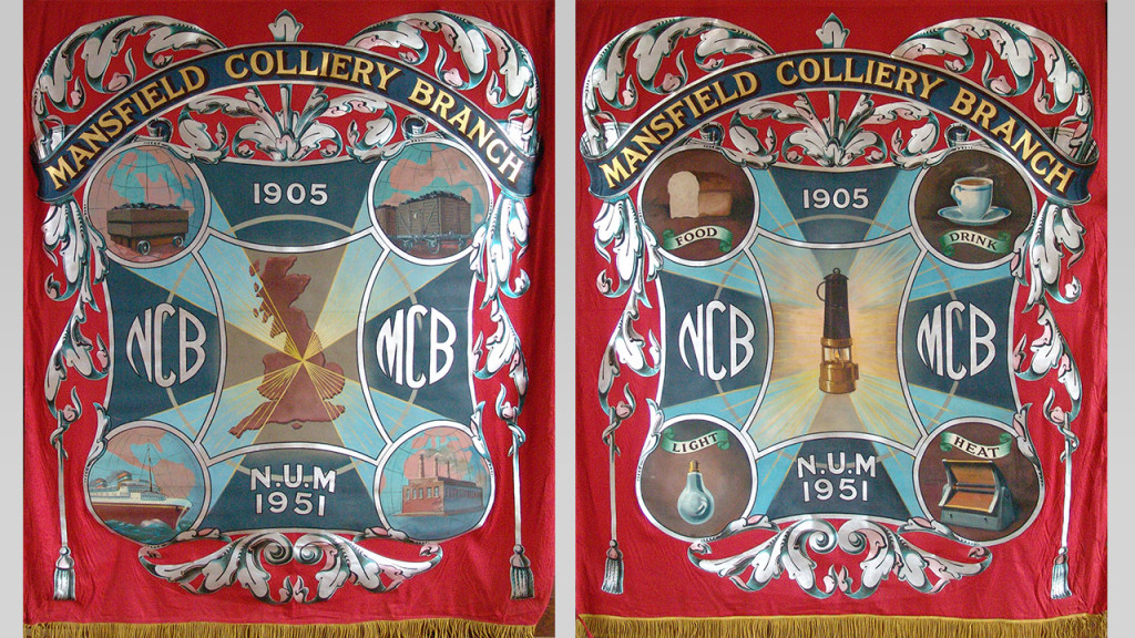 Mansfield (Crown Farm) Colliery Mining Union Banner