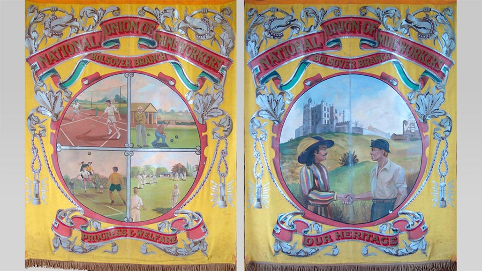 Bolsover Colliery Mining Union Banner