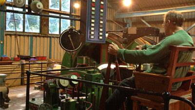 Former Linby Colliery Winding Engine in Steam