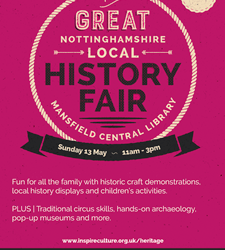 Great Nottinghamshire Local History Fair – Mansfield.