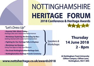 Nottinghamshire Heritage Forum Conference and Awards Evening