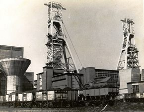 Images of Clipstone Headstocks: Exhibition at Mansfield Library