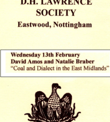 Coal and Dialect Talk: DH Lawrence Society – 13th February 2019