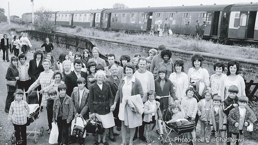 Coal miners' families seaside excursion, 1970s