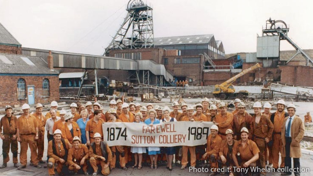 Closure of Sutton Colliery 1989