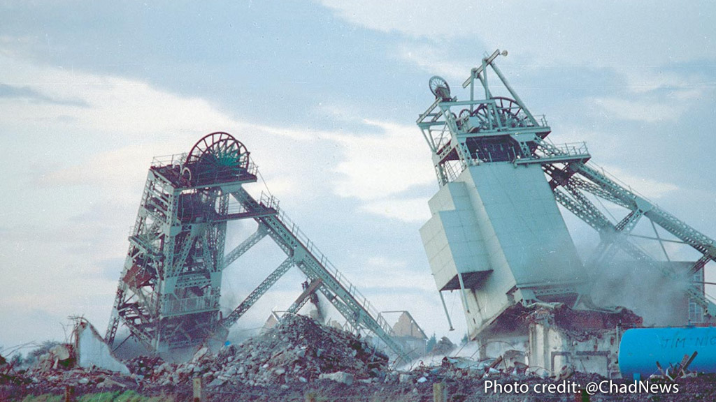 Demolition of Ollerton Colliery